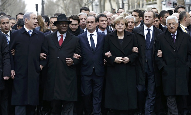 François Hollande on Paris march